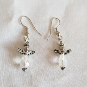 🥳 3/$10 Crystal Angel Earrings